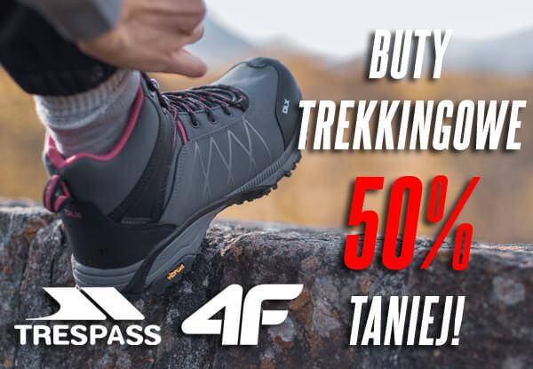 Buty trekkingowe 4F, Trespass 50% taniej !