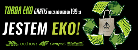 Bawełniana eko torba gratis w sklepie sportowym TourSport.pl