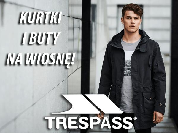 Kurtki przeciwdeszczowe i buty turystyczne Trespass na wiosnę - 30% !