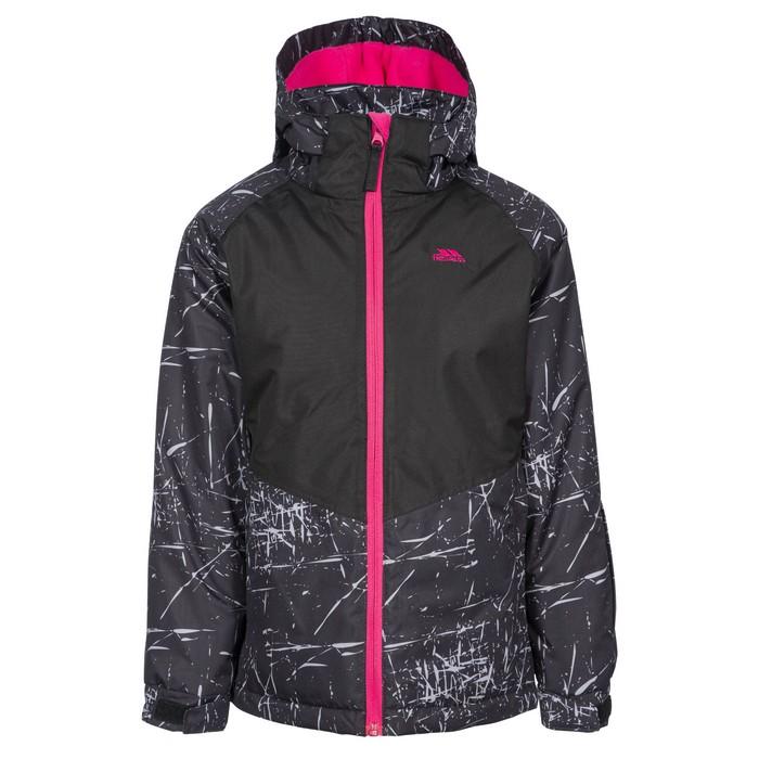 Kurtka narciarska dziecięca LOTTAR TP50 TRESPASS Black Print
