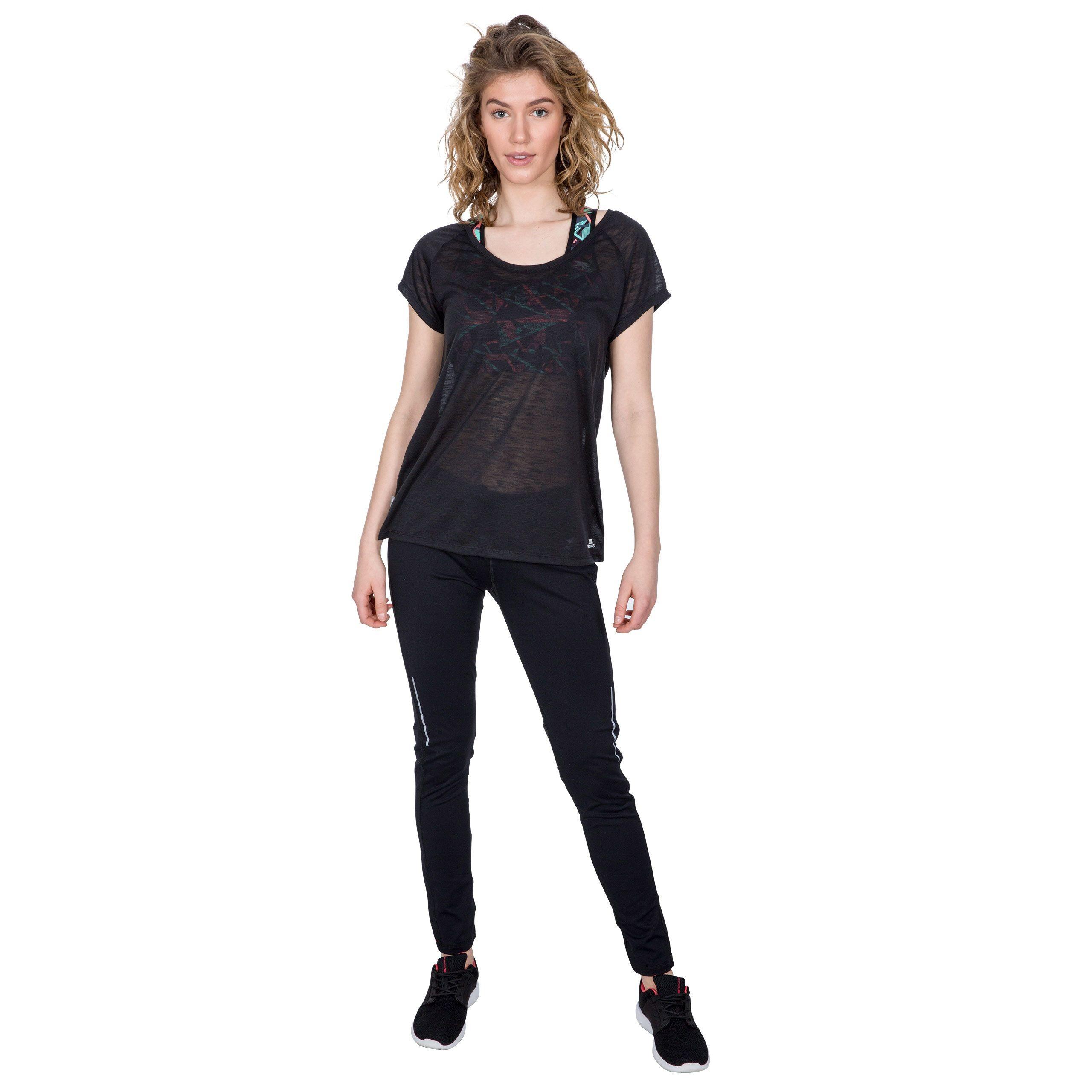 Koszulka treningowa damska NEWBY TP50 TRESPASS Black