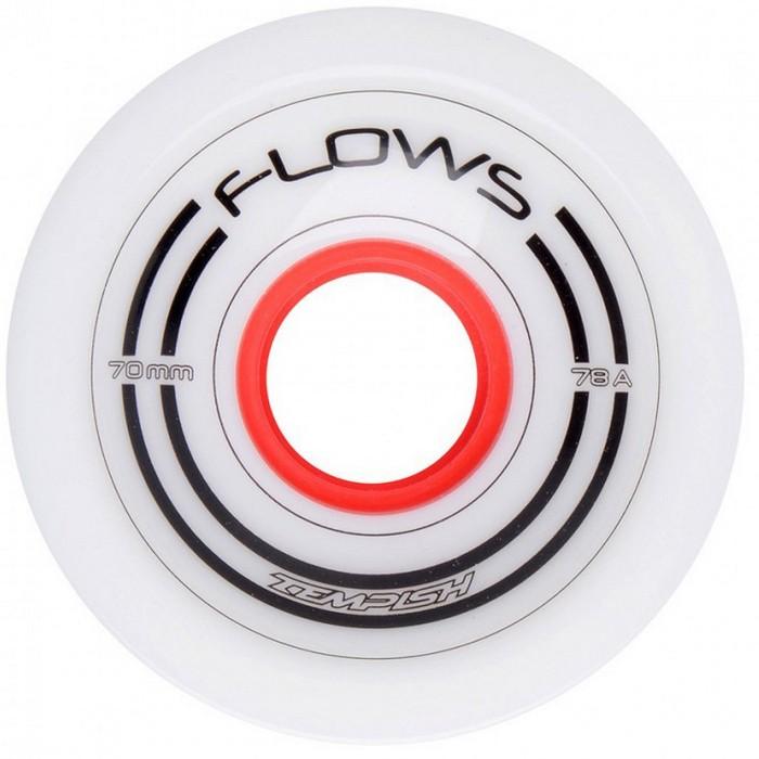 KÓŁKA DO LONGBOARDU FLOWS 70x51mm 78A WHITE 4 SZT TEMPISH