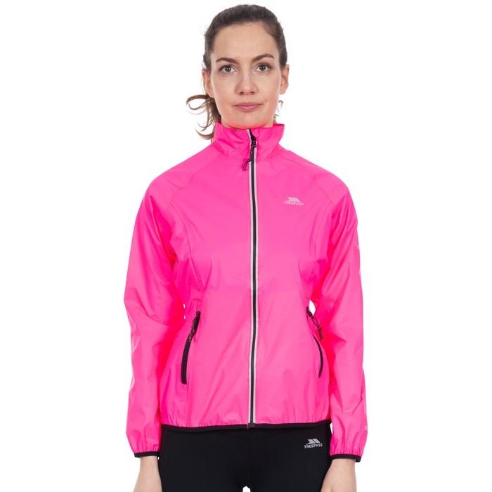 Kurtka sportowa damska BEAMING TRESPASS Hi-Visibility Pink