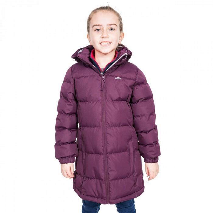Płaszcz pikowany dziecięcy TIFFY TRESPASS Potent Purple