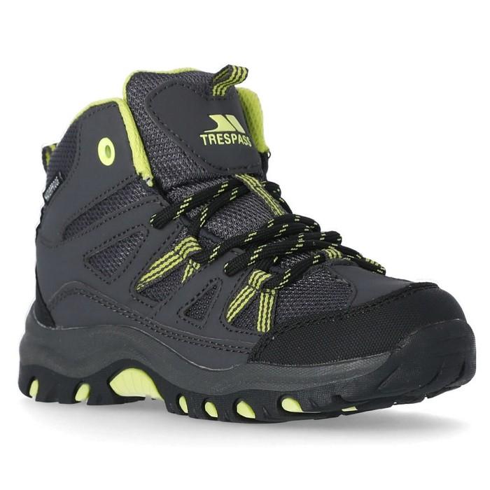 Buty trekkingowe dziecięce GILLON TRESPASS Carbon/Kiwi
