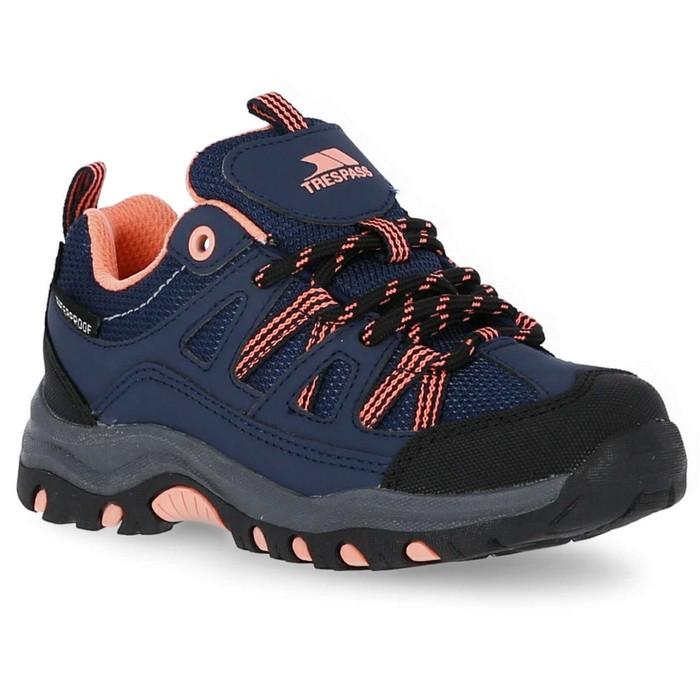 Buty turystyczne dziecięce GILLON LOW TRESPASS Navy/Neon Coral