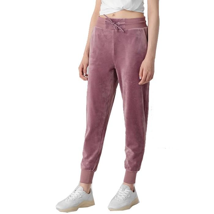 Spodnie dresowe welurowe damskie H4Z21-SPDD014 52S 4F