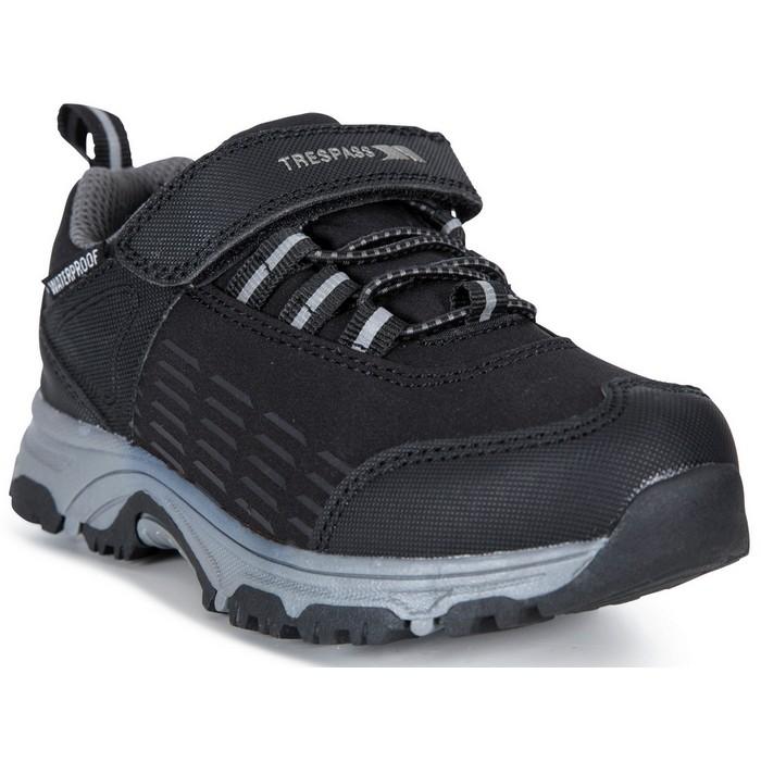 Buty turystyczne dziecięce HARRELSON LOW TRESPASS Black
