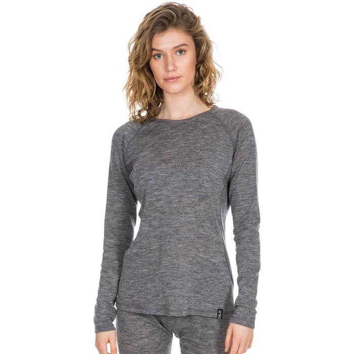 Koszulka termiczna damska Merino LIBRA DLX TRESPASS Dark Grey Marl