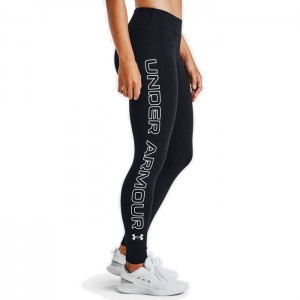 Legginsy treningowe damskie FAVOURITE WORDMARK LEGGINS 1356403-001 UNDER ARMOUR