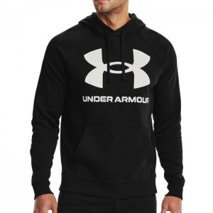 Bluza z kapturem męska RIVAL FLEECE BIG LOGO HOODIE 1357093-001 UNDER ARMOUR