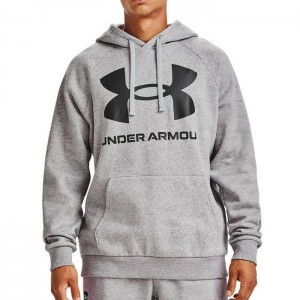 Bluza z kapturem męska RIVAL FLEECE BIG LOGO HOODIE 1357093-011 UNDER ARMOUR
