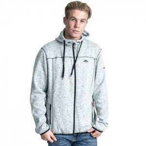 Polar męski full-zip ODENO TRESPASS Ghost marl