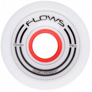 KÓŁKA DO LONGBOARDU FLOWS 70x51mm 78A WHITE 4 SZT TEMPISH
