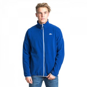 Polar męski full-zip MIRTH TRESPASS Navy Stripe