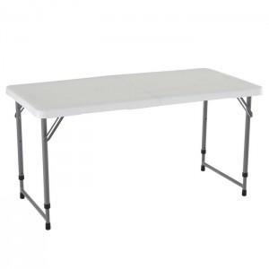 Stół składany w pół o regulowanej wysokości półkomercyjny 122cm 4428 LIFETIME