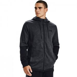 Bluza treningowa męska DOUBLE KNIT FZ HOODIE 1352012-001 UNDER ARMOUR