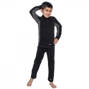 Komplet termiczny polarowy dziecięcy BUBBLES TRESPASS Black