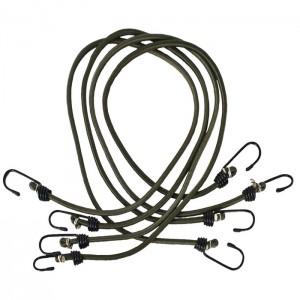 Linki elastyczne z haczykami 4szt. BUNGEE CORD TRESPASS Olive