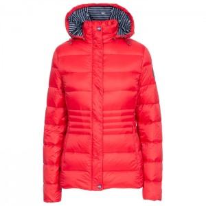 Kurtka puchowa zimowa ciepła damska HAYLING DLX TRESPASS Red