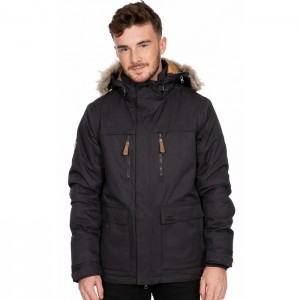 Kurtka zimowa parka męska KING PEAK TP75 TRESPASS Dark Grey