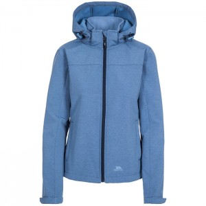 Kurtka softshell damska LEAH TP75 TRESPASS Denim Blue Marl