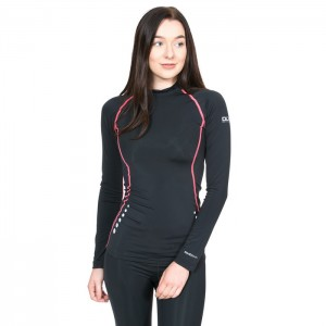 Koszulka termoaktywna damska DASHA DLX TRESPASS Black