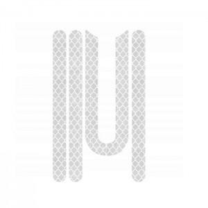 Naklejki odblaskowe (4 szt.) zaślepki śrub do Xiaomi M365/PRO Białe