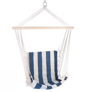 Krzesło brazylijskie hamak NC3101 NILS CAMP Blue-White