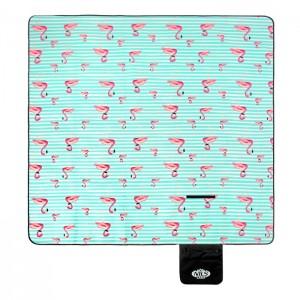Koc piknikowy NC8005 200x200cm PE+ALU+PIANKA NILS CAMP Pasy Flamingi