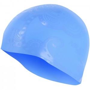 Czepek pływacki silikonowy G-TYPE WOMAN F224 NILS AQUA Niebieski