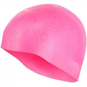 Czepek pływacki silikonowy G-TYPE WOMAN SC16 NILS AQUA Różowy