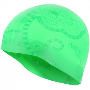 Czepek pływacki silikonowy G-TYPE WOMAN SE24 NILS AQUA Zielony
