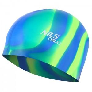 Czepek pływacki silikonowy MI4 NILS AQUA Zebra