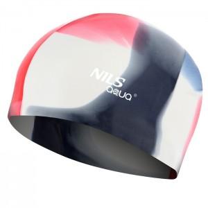Czepek pływacki silikonowy MS250 NILS AQUA Multikolor