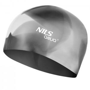 Czepek pływacki silikonowy MX20 NILS AQUA Multikolor