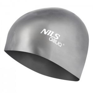 Czepek pływacki silikonowy G107 NILS AQUA Szary