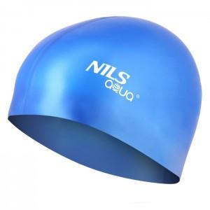 Czepek pływacki silikonowy SH71 NILS AQUA Niebieski