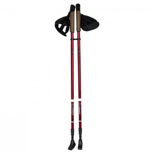 Kije nordic walking (para) 86-140cm NW802 NILS Red