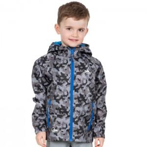 Kurtka przeciwdeszczowa dziecięca QIKPAC KIDS TP75 TRESPASS Grey Camo