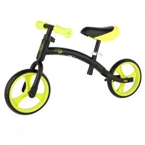 """Rowerek biegowy dziecięcy RB06 9"""" Nils Extreme Black/Green"""