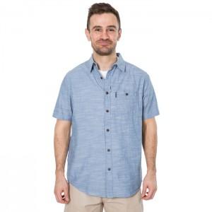 Koszula męska z krótkim rękawem SLAPTON TRESPASS Denim