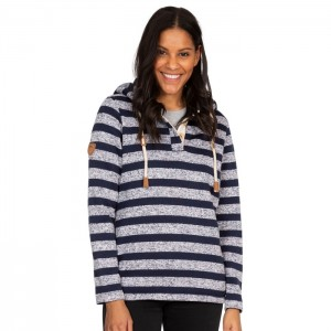 Bluza polarowa damska SOCIETY TRESPASS Navy Stripe Marl