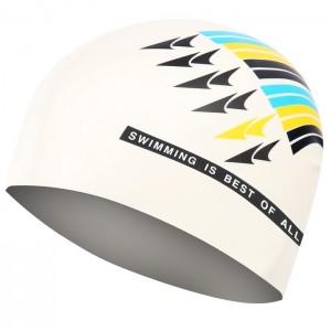 Czepek pływacki silikonowy 617 SPURT Biały