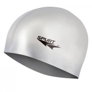 Czepek pływacki silikonowy G-TYPE JUNIOR F221 SPURT Srebrny