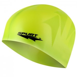 Czepek pływacki silikonowy z tłoczeniem SE23 SPURT Zielony
