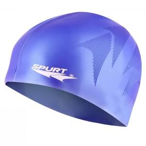 Czepek pływacki silikonowy z tłoczeniem SE34 SPURT Fioletowy