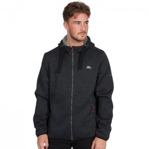 Polar full-zip męski TABLEYPIPE TRESPASS Black Marl