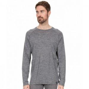 Koszulka termiczna męska Merino WEXLER DLX TRESPASS Dark Grey Marl