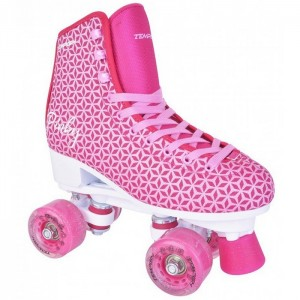 WROTKI FITNESS JUNIOR PINKY ABEC-7 TEMPISH